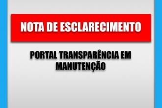 Nota de Esclarecimento - Portal Transparência